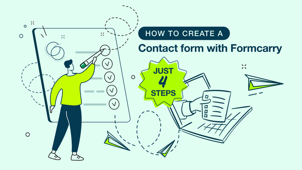 How to create a contact form with Formcarry